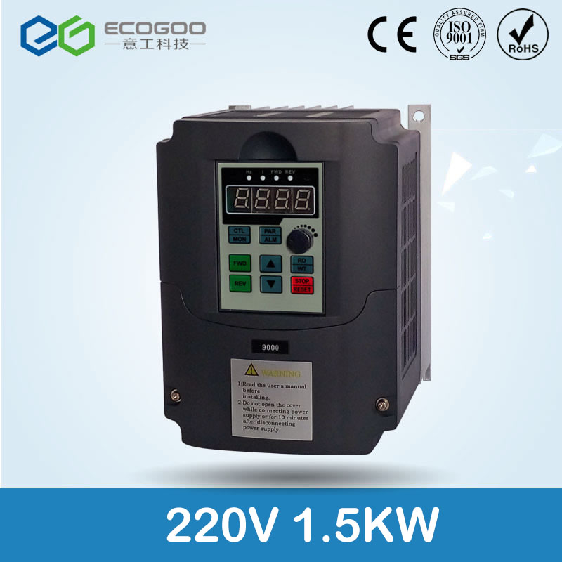 220v 1.5kw AC Frequency Inverterr Output 3 Phase