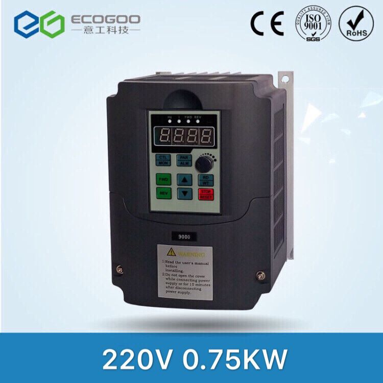 0.75kw 220v AC Frequency Inverter  Output 3 Phase 650HZ